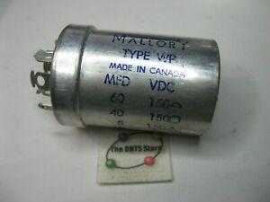 Electrolytic Capacitor 4 Sectn. 60,40,5,10uF 150,150,150,25VDC Elna 00405 Qty 1