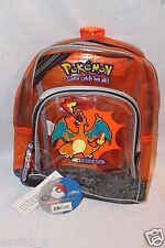 New With Tags Pokemon Orange Charizard Backpack