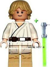 LEGO STAR WARS - TATOOINE LUKE SKYWALKER FIGURE + CHROME LIGHTSABER - RARE - NEW