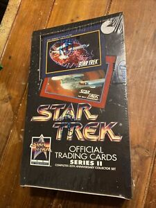 1991 Impel Star Trek Trading Cards Series 2 Factory Sealed Hobby Box - 36 Packs