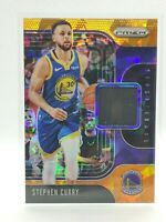 2019-2020 Panini Prizm Stephen Curry - Orange Cracked Ice - Black Jersey Patch