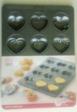 New-Valentine Heart Shaped Metal Cookie Pan / Candy Mold– 12 Heart Designs
