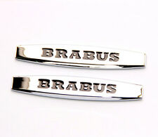 2x Chrome Brabus Emblems Badge Side Sticker 3d for Mercedes Benz Brabus 1NEW YU