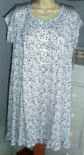 NWT M Medium Eileen West Nightgown Classical Knit NEW Spring Floral Blue White