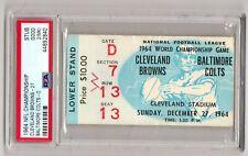 PSA2 1964 WORLD CHAMPIONSHIP TICKET STUB CLEVELAND BROWNS RARE BLUE VARIATION