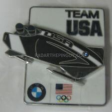 2014 Sochi Winter Olympic BMW Bobsled Slider Team USA Pin #1
