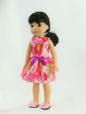 """Floral Sleeveless Dress Fits Wellie Wishers 14.5"""" American Girl Clothes"""