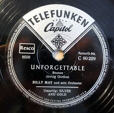 "Billy May - Unforgettable - Silver And Gold - /10"" 78 RPM"