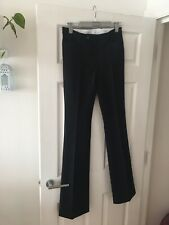 Joseph Black Bootcut Viscose Cotton Stretch Trousers New Size 38 Pockets