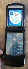 New listing Motorola Razr V3 Alltel Blue Cell Phone Parts Repair Vintage Very Clean