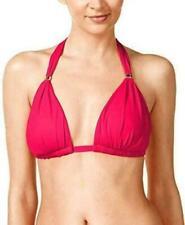 Lauren Ralph Lauren Size 14 Solid Raspberry Red Bikini Swimsuit Top NWT