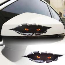 Auto Car Window 3D Creative Simulation Monster Leopard Eye Peeking Sticker Decal