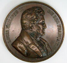 King Louis Philippe I  Copper Medal By Caque C.1842