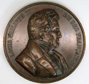 King Louis Philippe I  Copper Medal By Caque, C.1842