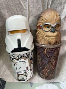 3 Star Wars SOLO Movie Denny's Collectors Cups Chewie & Range Trooper & Han Solo