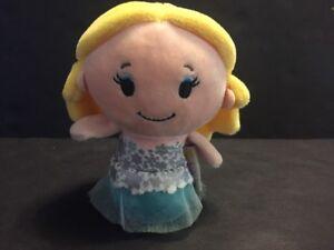 "4"" Barbie Blonde Caucasian Hallmark Itty Bittys Plush Stuffed Animal Mattel"