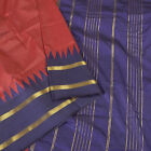 Sanskriti New Red Saree Art Silk Zari Woven Fashion Sari With Blouse Pc Fabric