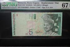 MALAYSIA RM5 PMG 67 EPQ replacement ZA Zeti