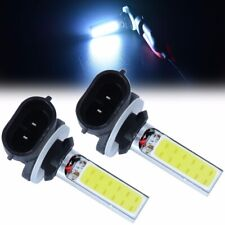 2x 881 H27W 20W 12v COB LED Fog Driving Light DRL Lights Lamps Bulbs White 6000k