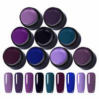 9 Colors/Set Lila Farbe UV Gel Nagellack Set UV LED Gel Varnish LEMOOC