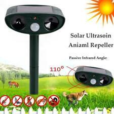 Outdoor Solar Ultrasonic Power Pest Animal Repeller Repellent Garden Cat Dog Fox