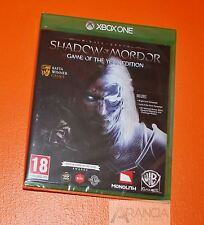 Middle Earth Shadow of Mordor Game of the Year (GOTY) Xbox One New and Sealed