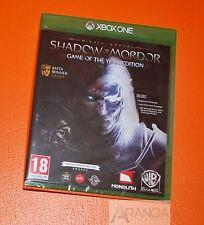 Tierra media sombra de mordor Juego del Año (goty) Xbox One Nuevo y Sellado