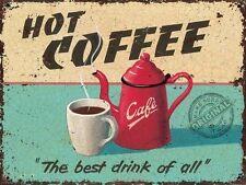Hot Coffee Retro Vintage Drink Kitchen Cafe Diner Gift Quality Fridge Magnet