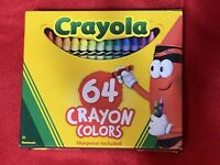 CRAYOLA 64 COUNT CRAYONS Coloring Assorted Crayons  PACKS NEW