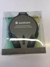 BRAND NEW GENUINE GOODMANS OVER EAR HEADPHONES GREY W/SMARTPHONE CONTROL GHP03