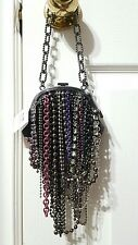 NWT Coach Poppy Tangle Ballchain Framed Small Bag Rare Retail $258