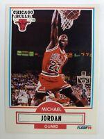 1990-91 Fleer MICHAEL JORDAN #26, Chicago Bulls, HOF