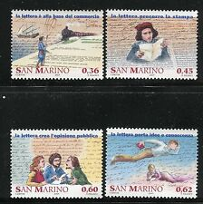 SAN MARINO 2005 STORIA POSTA-MAIL SERVICE/TRAIN/SHIP/COURIER/MAN/WOMAN/LETTER