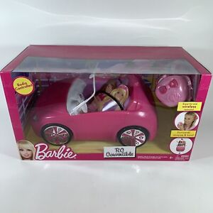 NEW Barbie RC Remote Control Convertible Pink Car with Remote, Mattel 2011