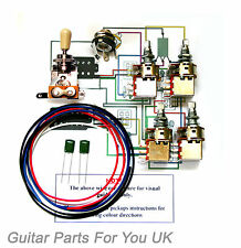 500k Les Paul Kit de cableado completo ollas tono balanceado 0.022uf Kit De Tapas Jimi Page