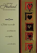 Husband Wedding Anniversary Card with Cream Envelope