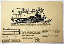 DDR Kleine Typensammlung Schienefahrzeuge - Zahnradlokomotive T 26