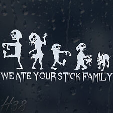 We Ate Your Stick Family Zombie Car Decal Vinyl Sticker For Window Panel Bumper