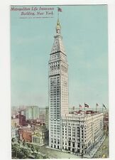 USA, Metropolitan Life Insurance Building New York Postcard, A821