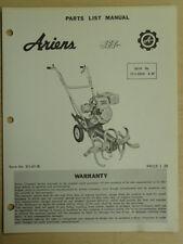 ARIENS JET TILLER SN# 23 - L - 09001 & UP PARTS MANUAL STJ 65