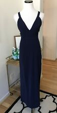 Lulus NBD Navy Blue Bridesmaid Wedding Guest Homecoming Formal Xs Maxi Dress