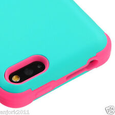 AMAZON FIRE PHONE HYBRID T ARMOR CASE SKIN COVER TEAL GREEN PINK