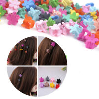 30PCS Kids Baby Girl Cute Mini Acrylic Flower Hair Claw Cartoon Hair Clip Clamp