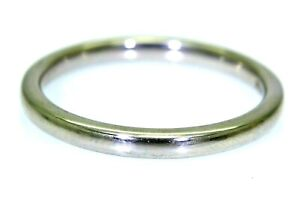 Classic Wedding Band 950 Palladium Ring size U  ~ 10 1/4