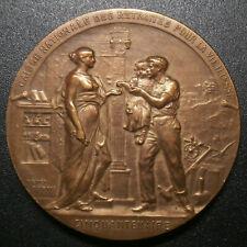 French médaillon - Caisse des retraites pour la vieillesse Cinquantenaire 36.4mm