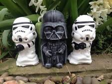 Star Wars Darth Vader & Stormtrooper Concrete Garden Ornaments-Free UK P&P