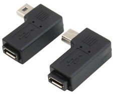 1Pair 90 Degree Right Left Angle Mini USB 5pin Male to Micro Female Sync adapter