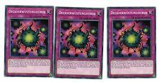 3 x Deck Devastation Virus Super sr06-de032, Common, Mint, German, Playset