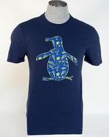 Penguin Logo Blue Short Sleeve Graphic Cotton Tee T Shirt Mens NWT