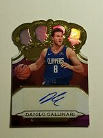 2018-19 CROWN ROYALE BASKETBALL DANILO GALLINARI AUTO GOLD /10 CLIPPERS [LY]